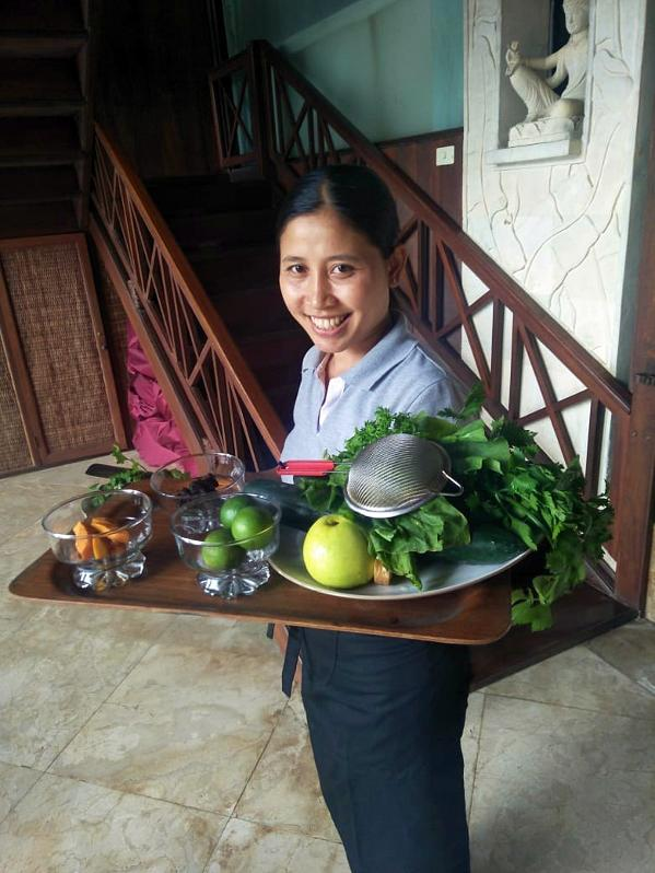 Chef Komang at Gaia Retreat Center in Bali